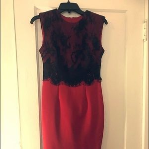 Little Red Dress with Black Lace